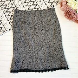 WHITE HOUSE BLACK MARKET Wool Blend Tweed Skirt